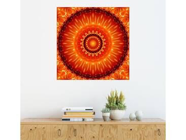 Posterlounge Wandbild - Christine Bässler »Mandala Unabhängigkeit«, orange, Acrylglas, 120 x 120 cm, orange