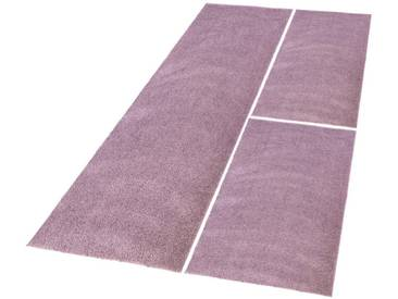Carpet City Bettumrandung »Softshine 2236« , höhe 30 mm, (3-tlg), lila, 30 mm, lila