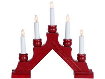 STAR Star Fensterleuchter, 5-flammig »Karin«, rot, Rot