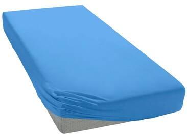 Pinolino® Spannbettlaken »Josy«, in kuscheligem Jersey für Babys, blau, Jersey, blau