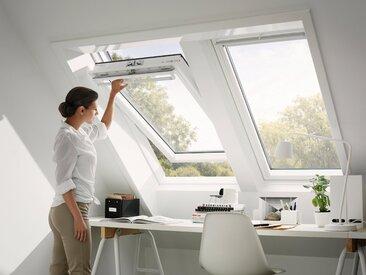 VELUX Dachfenster »GGU CK04«, Schwingfenster, BxH: 55x98 cm, grau, Kippfunktion, anthrazit