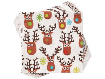 BUTLERS APRÈS »Papierserviette Mad Rudolph«, Länge 33 x Breite 33 cm,
