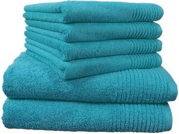 Dyckhoff Handtuch Set, »Brillant«, mit Streifenbordüre, grün, 6tlg.-Set A (siehe Artikeltext), türkis