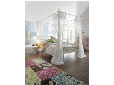 Home affaire Metall-Himmelbett »Birgit«, weiß, Liegefläche 180/200 cm, cremeweiß