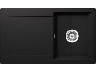 Schock SCHOCK Granitspüle »Pisa«, ohne Restebecken, 86 x 50 cm, schwarz, ohne Restebecken, schwarz