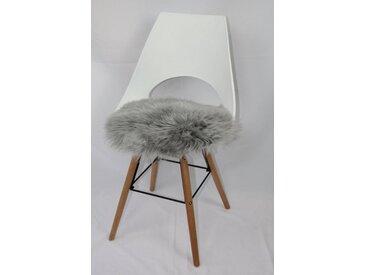 Heitmann Felle Sitzkissen »Sitzauflage Lamm rund«, echtes Lammfell, grau, grau