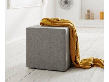 DELIFE Sitzhocker Dado 45x45 cm Hocker Sitzwürfel Würfelhocker, grau, Grau