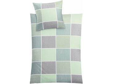 Kleine Wolke Bettwäsche »Caranta«, im klassischen Karo, grün, 1x 155x220 cm, Mako-Satin, grün