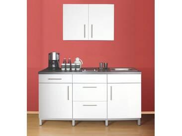 MENKE MÖBELWERKE Küchenzeile mit E-Geräten »Rack-Time Junior 180«, weiß, ohne Aufbauservice, weiß