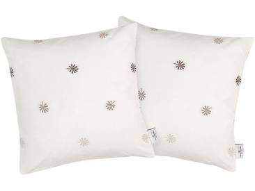 Tom Tailor Kissenhülle »Blossom«, natur, Polyester-Baumwolle, beige