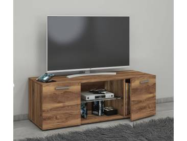VCM TV - Lowboard Lowina, braun, B. 115cm Kern-Nussbaum