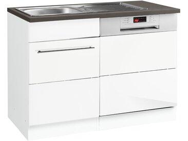 HELD MÖBEL GmbH Spülenschrank »Trient«, mit Tür/Sockel für Geschirrspüler, weiß, weiß Hochglanz
