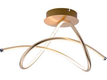 Leuchten Direkt LED Deckenleuchte »VIOLETTA«, 1-flammig, goldfarben, 1 -flg. /, goldfarben