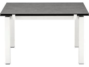 connubia by calligaris Tisch mit Tischplatte aus Keramik »Airport CB/4011«, grau, Metall schneeweiß matt, Keramik zement
