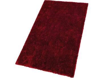 SCHÖNER WOHNEN-KOLLEKTION Hochflor-Teppich »Emotion«, rechteckig, Höhe 27 mm, rot, 27 mm, rot
