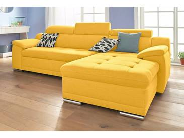 sit&more Ecksofa, gelb, 270 cm, Recamiere rechts, gelb