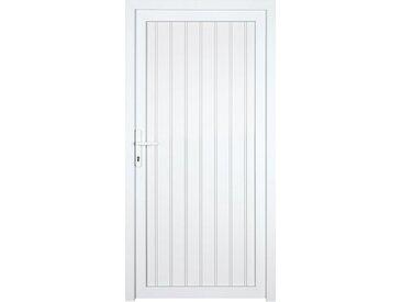 KM Zaun KM MEETH ZAUN GMBH Nebeneingangstür »K708P«, BxH: 98x208 cm cm, weiß, rechts, weiß, rechts, weiß