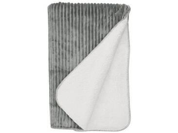 BUTLERS LORD OF CORD »Decke geschoren 150x200 cm schwarz-weiß«, grau, Länge 200 x Breite 150 cm