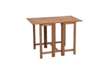 MERXX Gartentisch »Holz«, Eukalyptusholz, klappbar, 107x65 cm, braun, 107 cm x 65 cm, braun