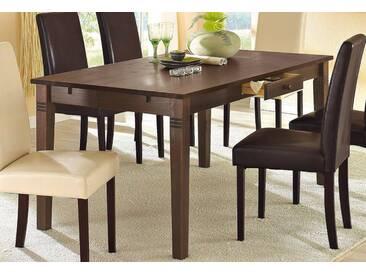 Home affaire Tisch, braun, Breite 140 cm, mit Schublade, kolonialfarben