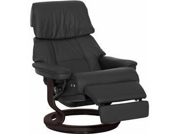 Stressless® Relaxsessel »Ruby« mit Classic Base und LegComfort™, Größe L, mit Schlaffunktion, schwarz, Fuß wengefarben, dark black
