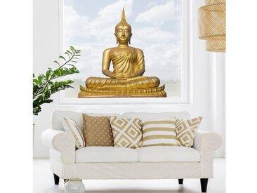 Bilderwelten Fenstersticker »Goldener Buddha«, Farbig