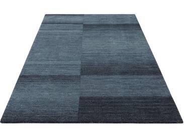 Theko Exklusiv Teppich »Jorun«, rechteckig, Höhe 14 mm, von Hand gearbeitet, grau, 14 mm, anthrazit