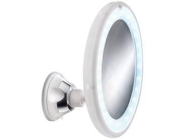 Kleine Wolke KLEINE WOLKE Kosmetikspiegel »Flexy Light«, Ø 17,5 cm, weiß, weiß/silber