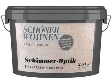 SCHÖNER WOHNEN-Kollektion SCHÖNER WOHNEN FARBE Spezialfarbe »Schimmer-Optik Effektfarbe shiny-rose«, glänzend 2,5 l, rosa, 2.5 l, shiny-rose