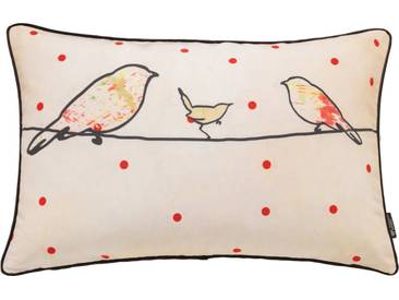 emotion textiles Kissenhülle »Crazy Birds«, orange, Polyester, orange
