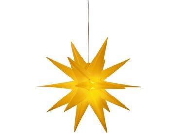 LED Stern »3D-Optik«, Ø 57 cm, mit 6-Stunden-Timer, gelb, gelb