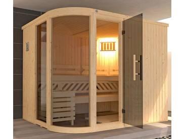 weka WEKA Sauna »Sara Gr.2«, 244x194x199 cm, 9-kW-Bio-Kombiofen mit ext. Strg., natur, 9-kW-Bio-Kombiofen mit externer Steuerung, natur