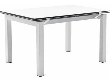 connubia by calligaris Tisch mit Tischplatte aus Keramik »Airport CB/4011«, weiß, Metall schneeweiß matt, Keramik weiß