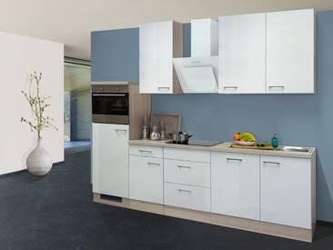Flex-Well Küchenzeile mit E-Geräten »Abaco«, Gesamtbreite 280 cm, silberfarben, mit Aufbauservice, silberfarben