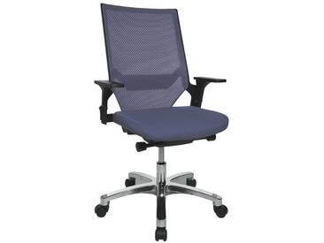 TOPSTAR Bürostuhl ohne Armlehnen »Autosyncron«, blau, blau