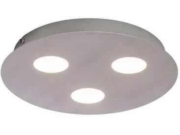 AEG Formit LED Wand- und Deckenleuchte 3flg nickel, grau, nickel