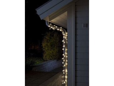 KONSTSMIDE LED Globelichterkette, kleine & große runde Dioden, weiß, Lichtquelle Warm weiß, transparent