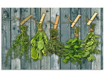 Artland Küchenrückwände »Team 5: Kräuter mit Holzoptik«, grün, 55x90 cm, Grün