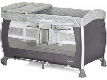 iCoo Reisebett mit Tragetasche, »Starlight Diamond Grey«, grau, Diamond Grey