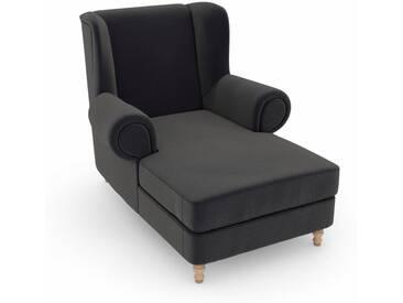 Max Winzer® build-a-chair XXL Ohrensessel »Madeleine«, zum Selbstgestalten, grau, Korpus: Samtvelours anthrazit, Samtvelours anthrazit