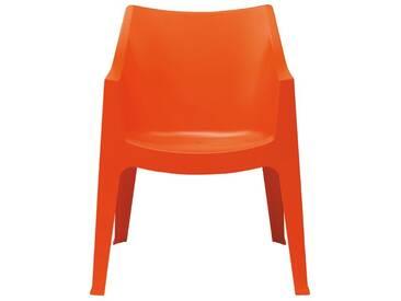 SalesFever Gartenstuhl mit Armlehnen aus Kunststoff »Coccolona«, orange, orange