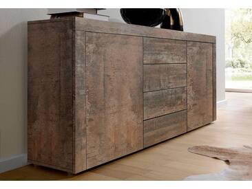 borchardt Möbel Borchardt Möbel Sideboard, Breite 139 cm, braun, Stahlfarben antik
