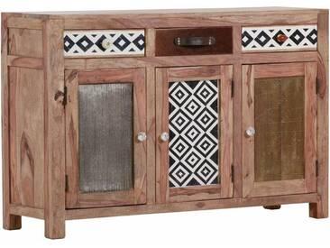 Gutmann Factory Sideboard »Safari« 3 Holztüren und 3 Schubladen mit dekorativen Fronten, natur, natur