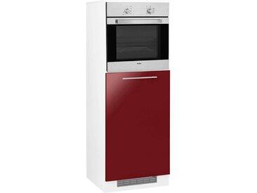 wiho Küchen WIHO-Küchen Backofen-/Kühlumbauschrank »Flexi2«, rot, rot Glanz/weiß