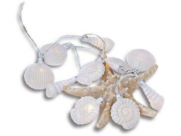 Loberon Lichterkette »White Shells«, weiß, weiß