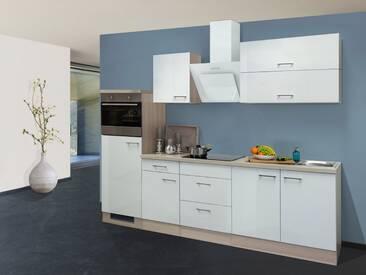 Flex-Well Küchenzeile mit E-Geräten »Abaco«, Gesamtbreite 270 cm, silberfarben, mit Aufbauservice, silberfarben