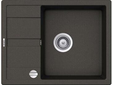 Schock SCHOCK Granitspüle »Lucca Plus«, ohne Restebecken, 65 x 50 cm, grau, Asphalt