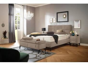 ADA premium Boxspringbett »Smart Elegance« Grand Comfort TF 1000 PM, natur, 7-Zonen-Tonnentaschen-Federkernmatratze H2, beige HMV 2