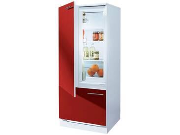 wiho Küchen Kühlmodul »Ahus«, mit ****-Kühlschrank AMICA »EKS16161«, rot, Burgund-Rot