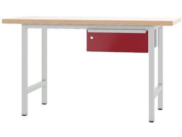 PADOR Arbeitstisch »700.0.1.700«, rot, 85.5 cm, grau/rot